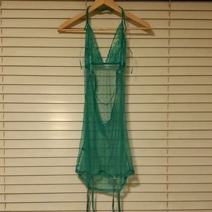 Super stretchy green size m lingerie mesh see thru
